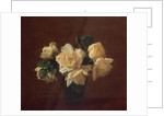 Yellow Roses by Ignace Henri Jean Fantin-Latour