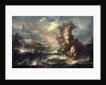 Italian Seascape with Rocks and Figures by Marco Ricci