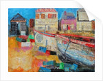 Old Fishing Boats; 2013, acrylic/paper collage by Sylvia Paul