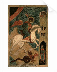 St. George and the Dragon, Russian icon from Vologda, 15th century by Russian School