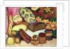 Still Life with Loaves of Bread by Ilya Ivanovich Mashkov