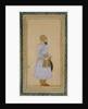 Standing figure of a Mughal prince by Mughal School