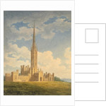 North-west view of Fonthill Abbey by Charles Wild