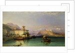 Arona and the Castle of Angera, Lake Maggiore, 1856 by George Edwards Hering