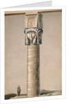 A Hathor headed pillar at Dendarah by French School