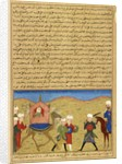 Aisha, at the Battle of the Camel by Persian School