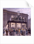 Outside the Theatre Royal, Drury Lane, 1821 by Robert Blemell Schnebbelie