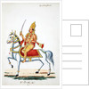 Lord Kalki on his horse Devadatta with sword in hand by Indian School