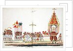 Procession with gods by Indian School