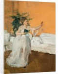 The Song Repetition. Around 1869. Oil on canvas. by Edgar Degas