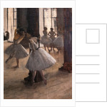 The Repetition at the Home of Dance. 1873-1875. Oil on canvas. by Edgar Degas