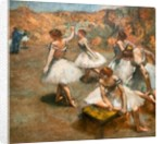 Dancers on the stage. Around 1889-1894. Oil on canvas. by Edgar Degas