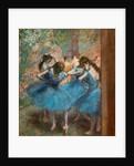 Blue dancers by Edgar Degas