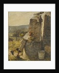 Boy Filling Water Jars at Well by Henry Herbert La Thangue