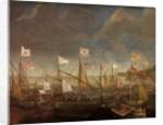 Mediterranean Seascape with Galleys by Kasper van Eyck