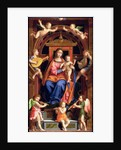 Madonna and Child Enthroned by Bernardino Luini