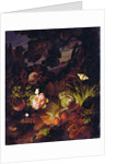 Flowers, Snake and Butterflies by Otto (manner of) Marseus van Schrieck