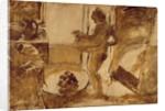 Woman Drying Herself, c.1884-86 by Edgar Degas