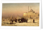 On the Way between Old and New Cairo, Citadel Mosque of Mohammed Ali, and Tombs of the Mamelukes, 1872 by Louis Comfort Tiffany