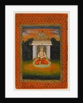 Miniature of an enshrined deity by Indian School