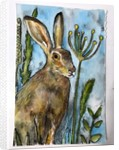Hare with seed heads, 2019 by Sarah Thompson-Engels