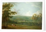 A Distant View of Towneley Hall, c.1777 by George the Elder Barret