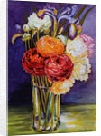 Ranunculus in a Glass by Joan Thewsey