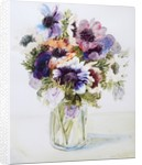 Anemones in a Glass Jug by Joan Thewsey