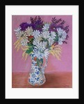 Chrysanthemums in a Japanese Jug by Joan Thewsey
