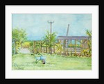 Cottage Garden with Wheelbarrow by Joan Thewsey