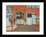 Cottage Kitchen,Red Cottage Studios,Suffolk with Rayburn by Joan Thewsey