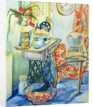 Cottage Interior, with Cat by Joan Thewsey