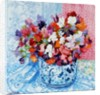 Tulips and Anemones with a Pot of Violets by Joan Thewsey