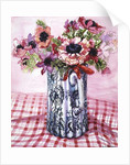 Anemones in a Victorian Flowered Jug by Joan Thewsey