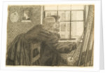 G P Boyce with Fanny Cornforth at Rossetti's Studio, Chatham Place by Dante Gabriel Charles Rossetti