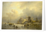 A View of Dortrecht, The Sawmill by Andreas Schelfhout