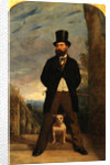 Self-Portrait with his Dog, Madame Sacchi by Samuel Bough