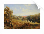 Wetheral - View of the River Eden Showing Wetheral Church and Viaduct, and Corby Ferry by Samuel Bough