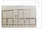 Plans of the ground floor of 21 Albemarle Street after the initial alterations to the house after its acquisition by the Royal Institution by English School