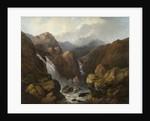 A Scottish Waterfall by Edward Train