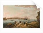 Harbour Scene, Malta by Anton Schranz