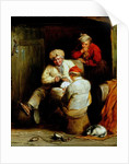 Smugglers Playing Cards by Henry Perlee Parker
