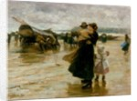 Hauling the Boats, 1890 by Robert Jobling