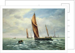 Sailing Barges racing on the Medway by Vic Trevett