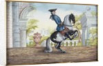 No. 41 A skewbald horse of the Spanish Riding School performing the 'Pesade' by Baron Reis d' Eisenberg