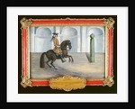 A Spanish horse of the Spanish Riding School performing a dressage movement by Baron Reis d' Eisenberg
