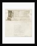 Tomb in Biddulph Church - 'William Bowyer' by School English