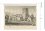 Checkley Church by John Chessell Buckler