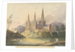 Lichfield Cathedral - West View by Henry James Noyes
