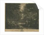 Shugborough - Woodland scene by William Woollett